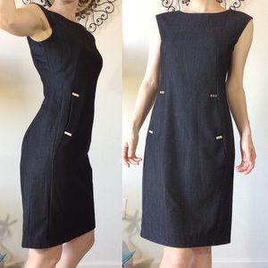 Calvin Klein Dresses - Calvin Klein Deep Grey Sleek Professional Dress